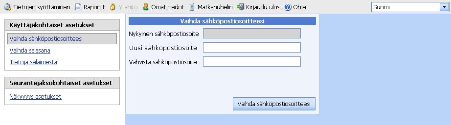 Sähköpostiosoitteen Vaihtaminen